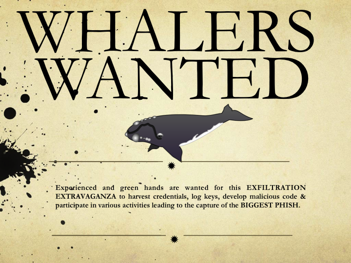 Whaling: Why Go After Minnows When You Can Catch a Big Phish?