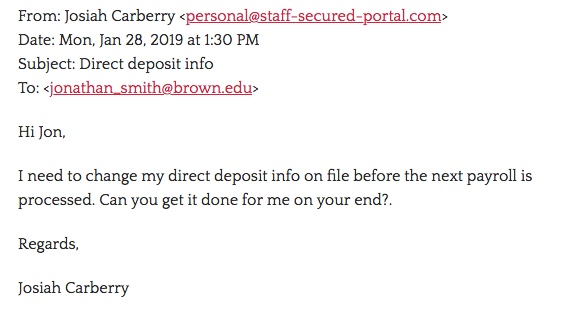 direct deposit scams